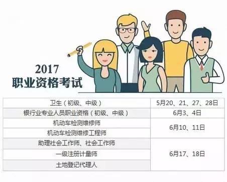 2017年55项职业考试时间表,加薪加职就靠它了! 会计职场 第2张
