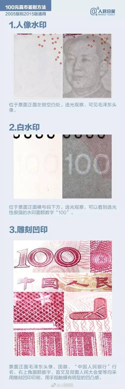 【会计知识】出纳快看过来!鉴别100元人民币超详细教程
