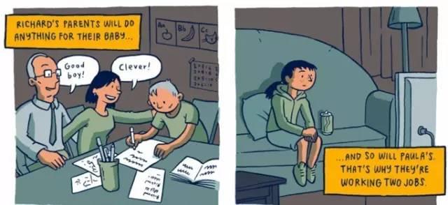 穷人和富人的差距是怎样一点点拉开的?这组风靡Facebook的漫画会让你震惊! 会计职场 第4张