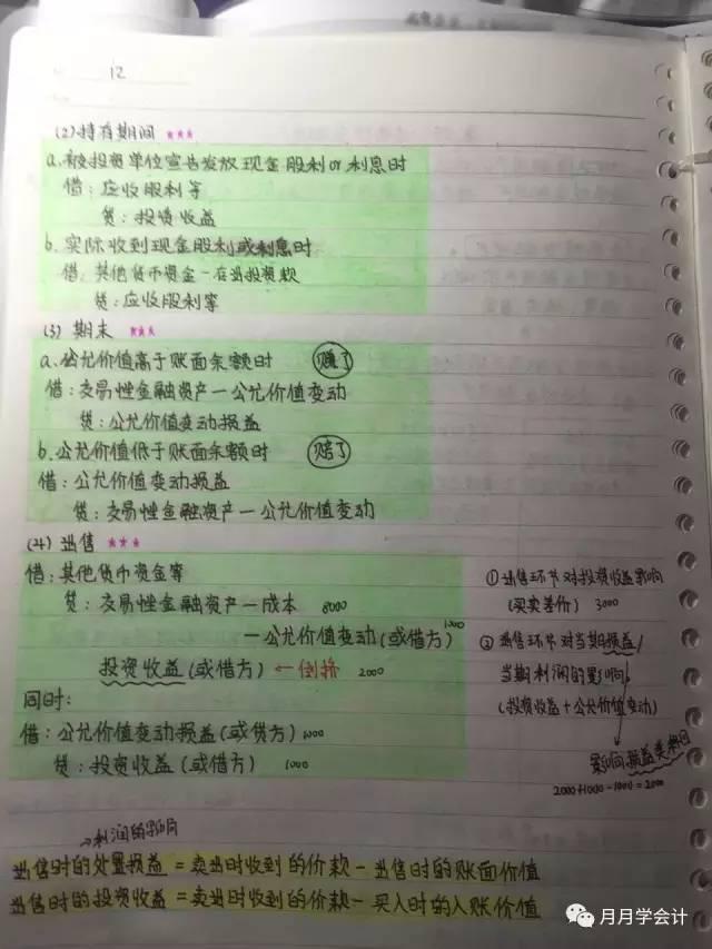 女学霸的初级会计实务笔记,看着爽极了!考初级的服不服? 初级会计师 第12张