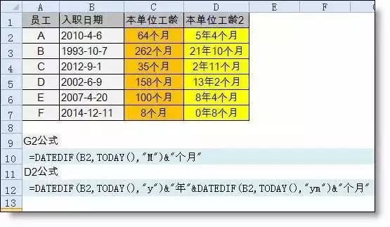 【会计实务】你会用 Excel 算工龄吗?太重要了! 〖会计实务〗 第13张