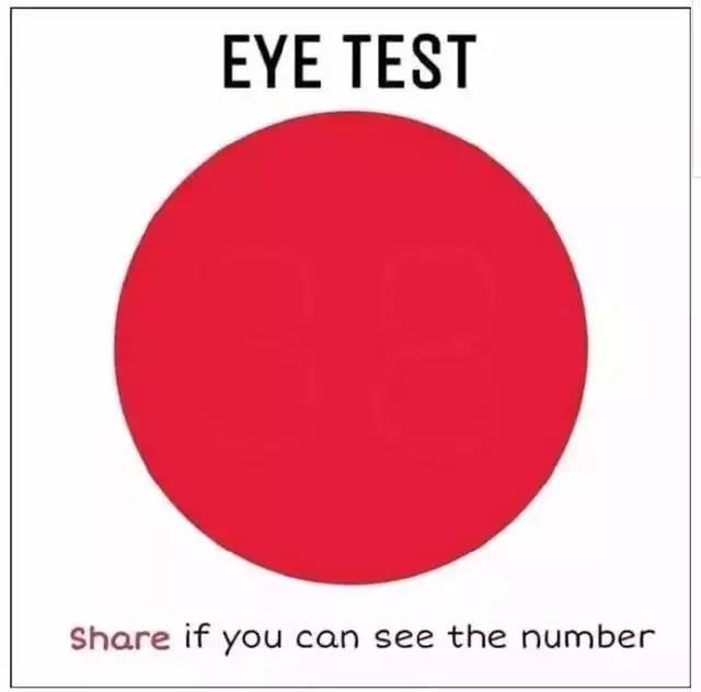 整天看手机,你的眼睛还好吗?用这几张图测一测!
