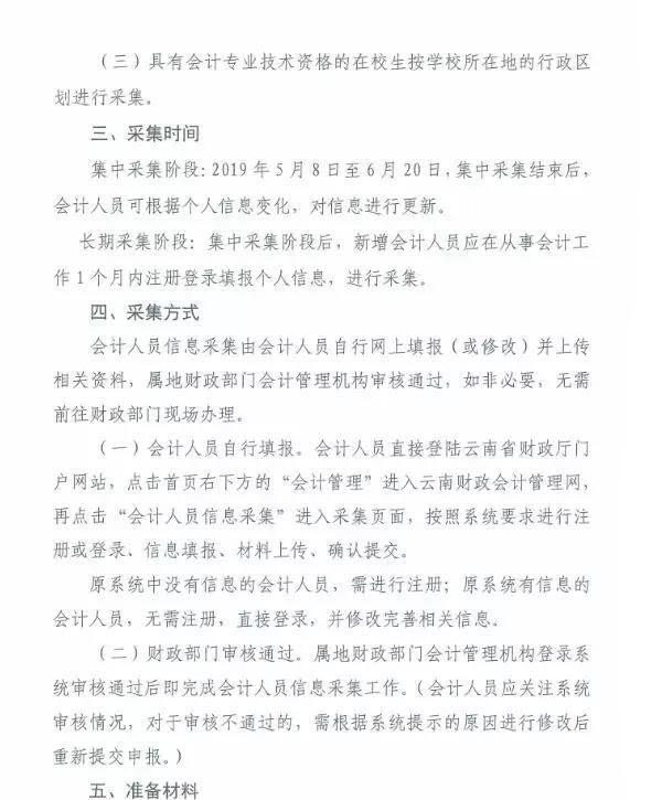 云南省会计人员信息采集通知,采集时间2019年5月8日至6月20日 会计继续教育 第3张