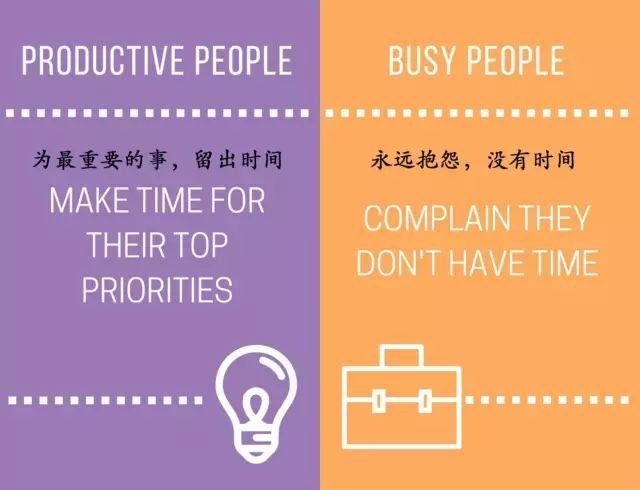没时间学习?15张图看懂瞎忙和高效的区别 会计职场 第11张